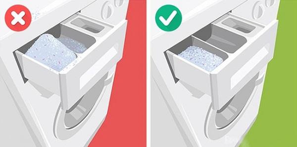 Dùng sai bột giặt